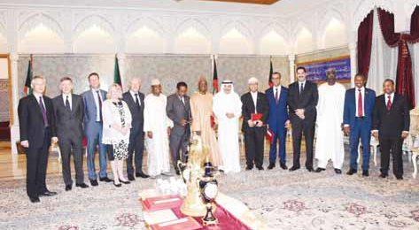 البابطين يناقش السفراء حول نشر اللغة العربية وحوار الثقافات